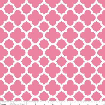 Riley Blake Quatrefoil Medium Hot Pink