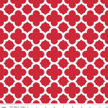 Riley Blake Quatrefoil Medium Red