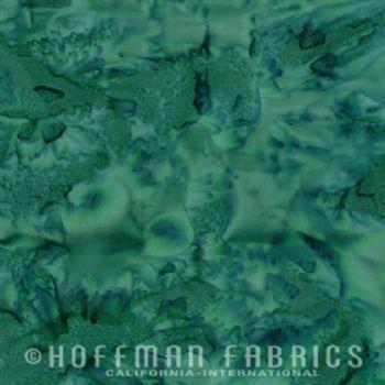 Hoffman Fabrics Bali Watercolors Evergreen