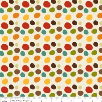 Riley Blake Giraffe Dots Cream