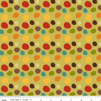 Riley Blake Giraffe Dots Green