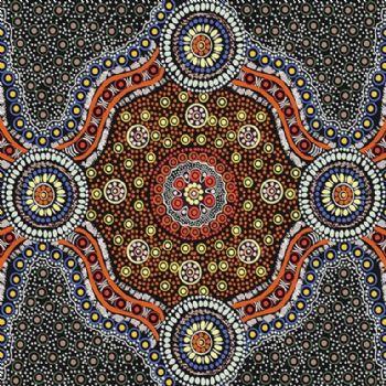M&S Textiles Wild Bush Flowers Black