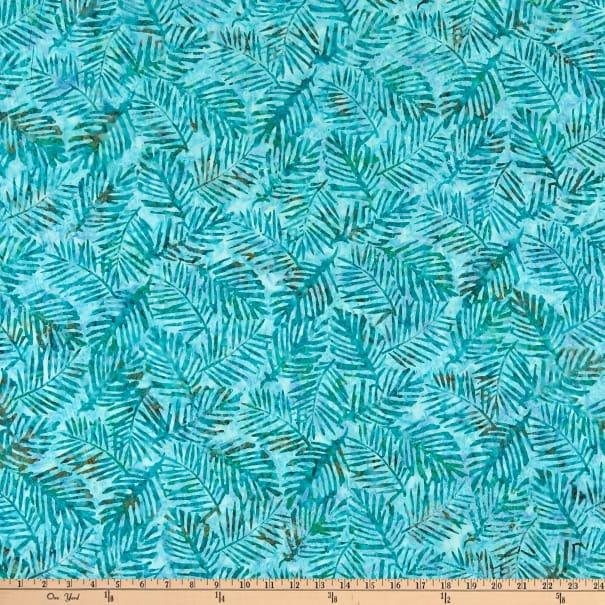 Aqua Palm Leaves Batik