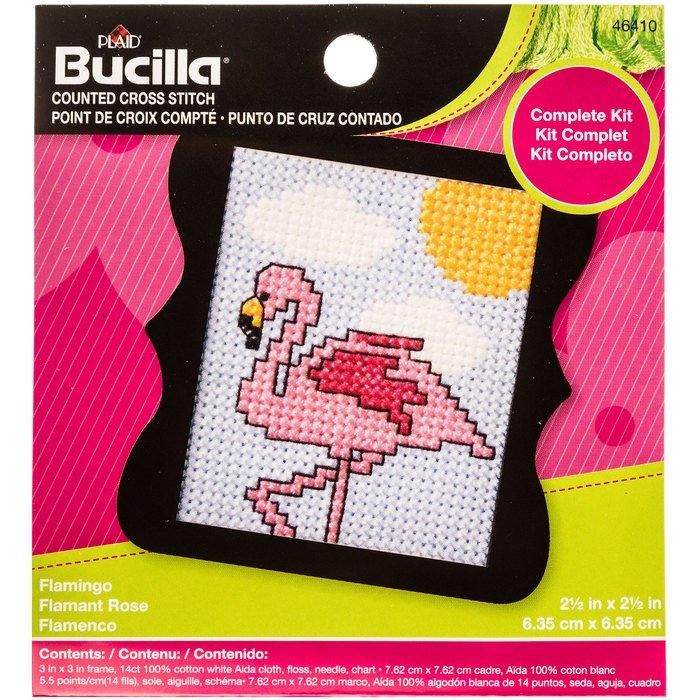 Counted Cross Stitch Kit Flamingo