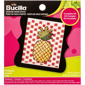 Counted Cross Stitch Kit Pineapple