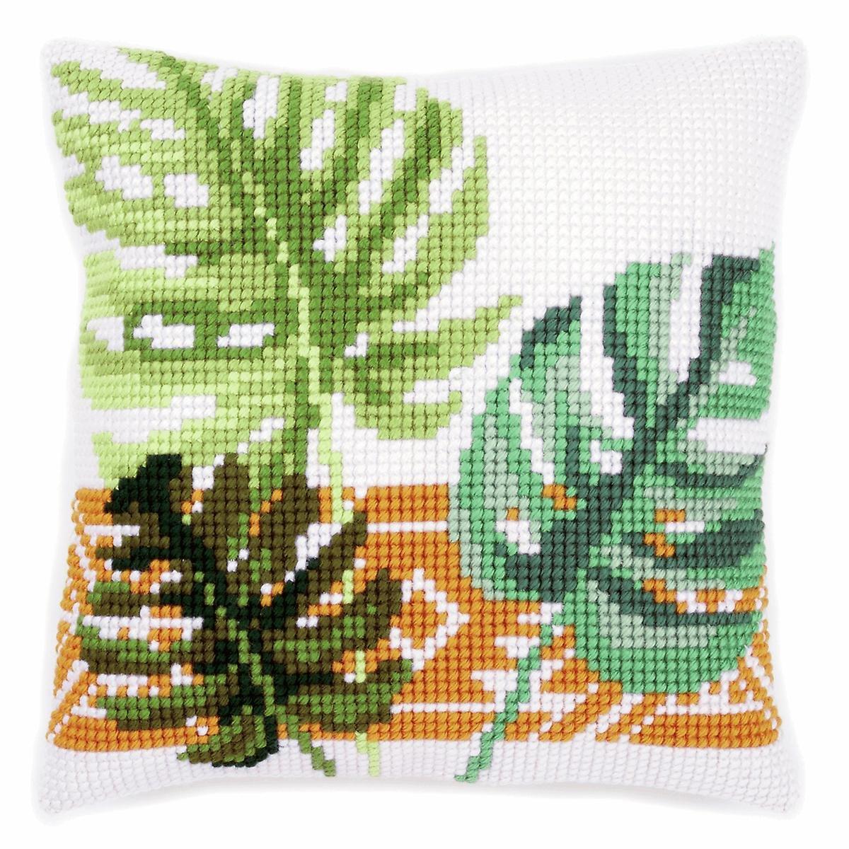 Tropical Leaves Needlepoint Kit