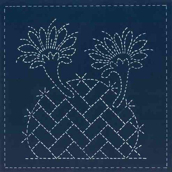 Sashiko Mimbres Collection - Cactus Bloom - 12x12