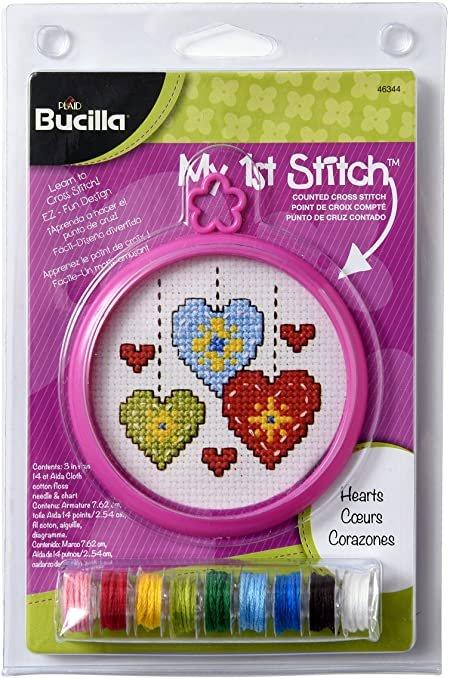 My First Stitch - hearts