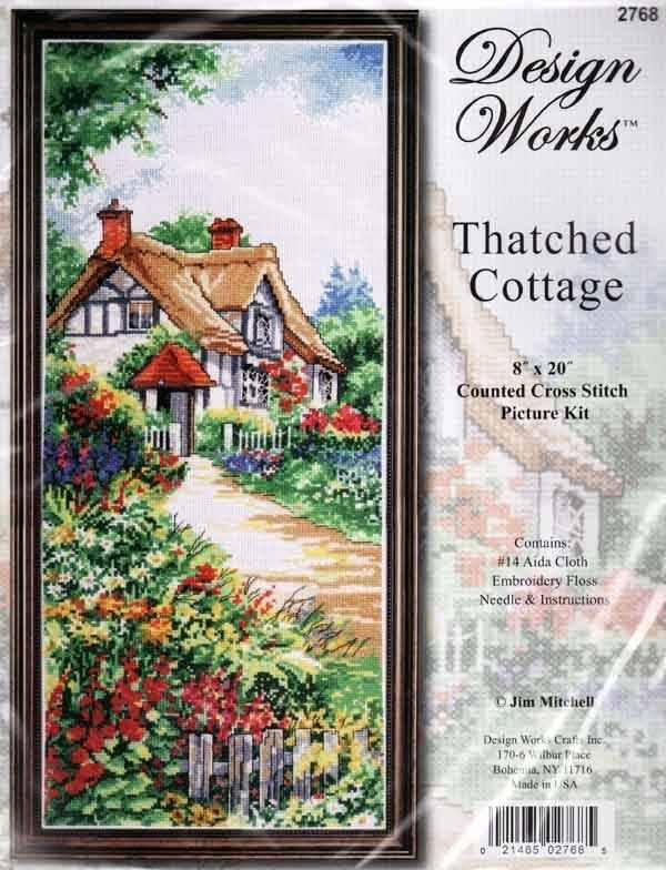 Counted Cross Stitch Kit - Thatched Cottage - 8x20