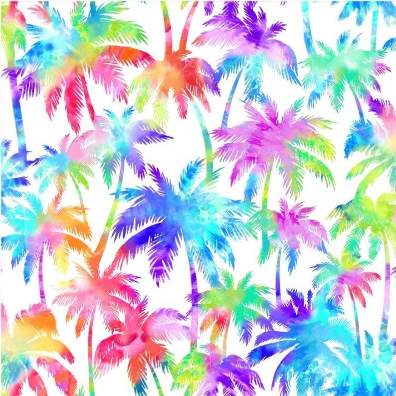 Palm Trees-White