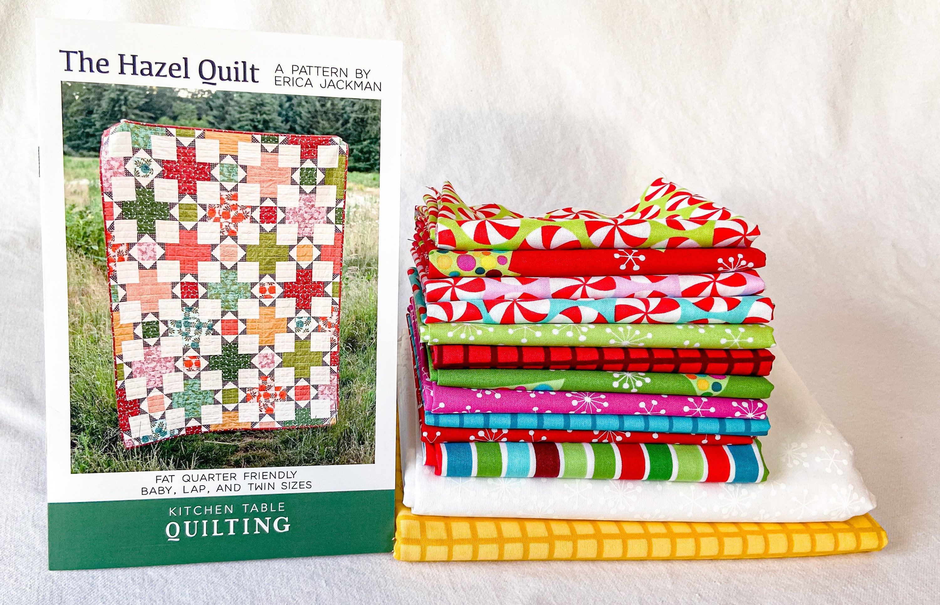 Very Merry Christmas Quilt Kit using The Hazel Quilt Pattern by Kitchen Table Quilting