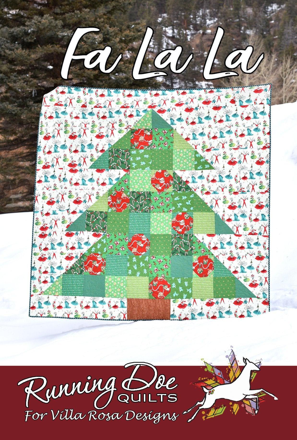 Fa La La Quilt Pattern by Running Doe Quilts