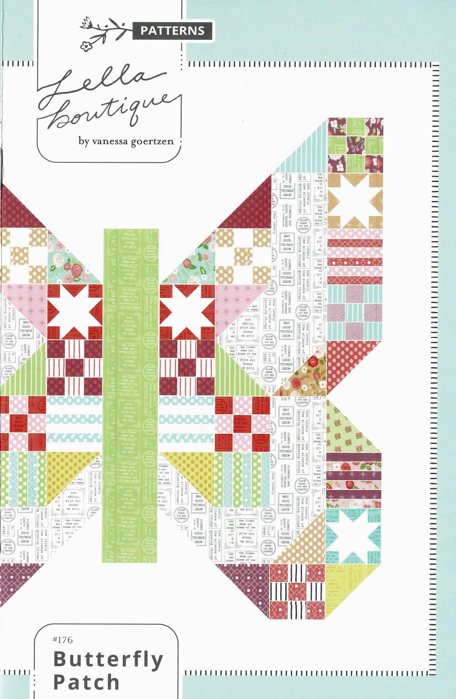 Butterfly Patch Quilt Pattern by Lella Boutique