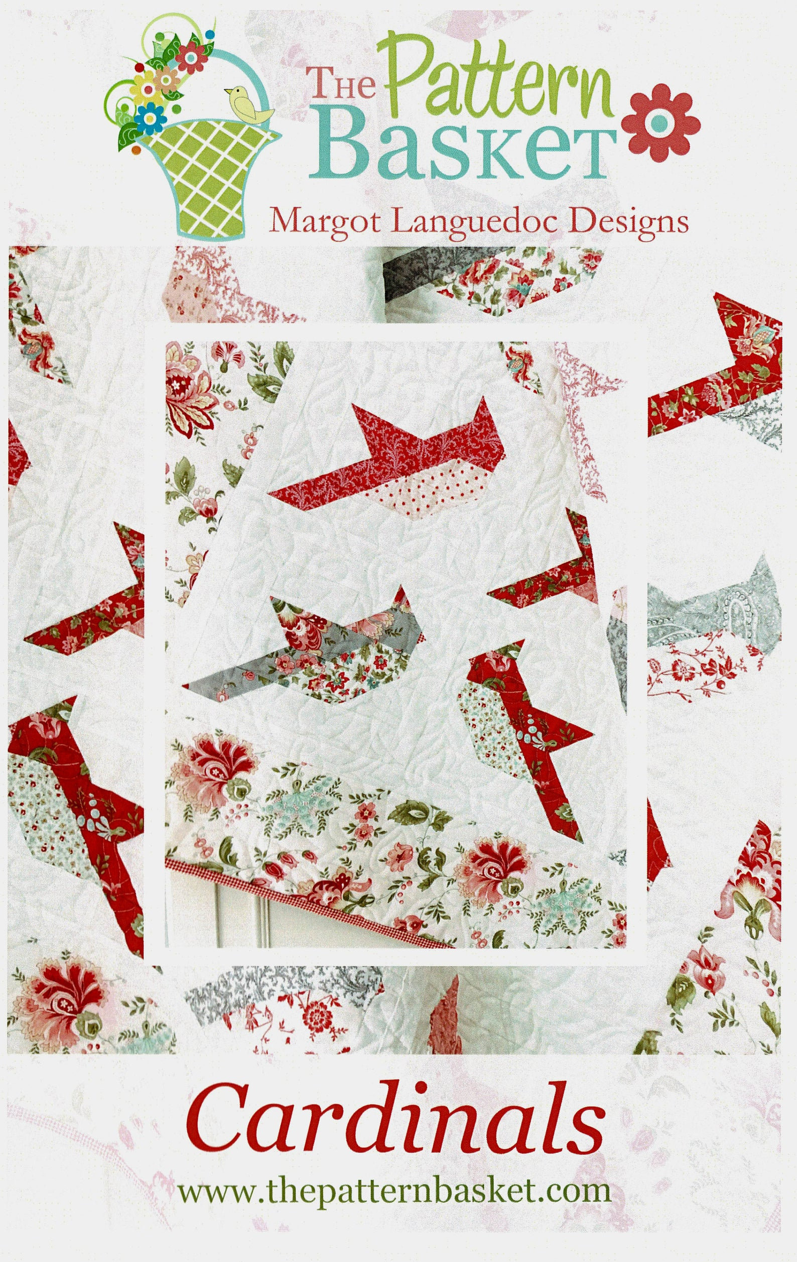 Cardinals Quilt Pattern by The Pattern Basket Margot Languedoc