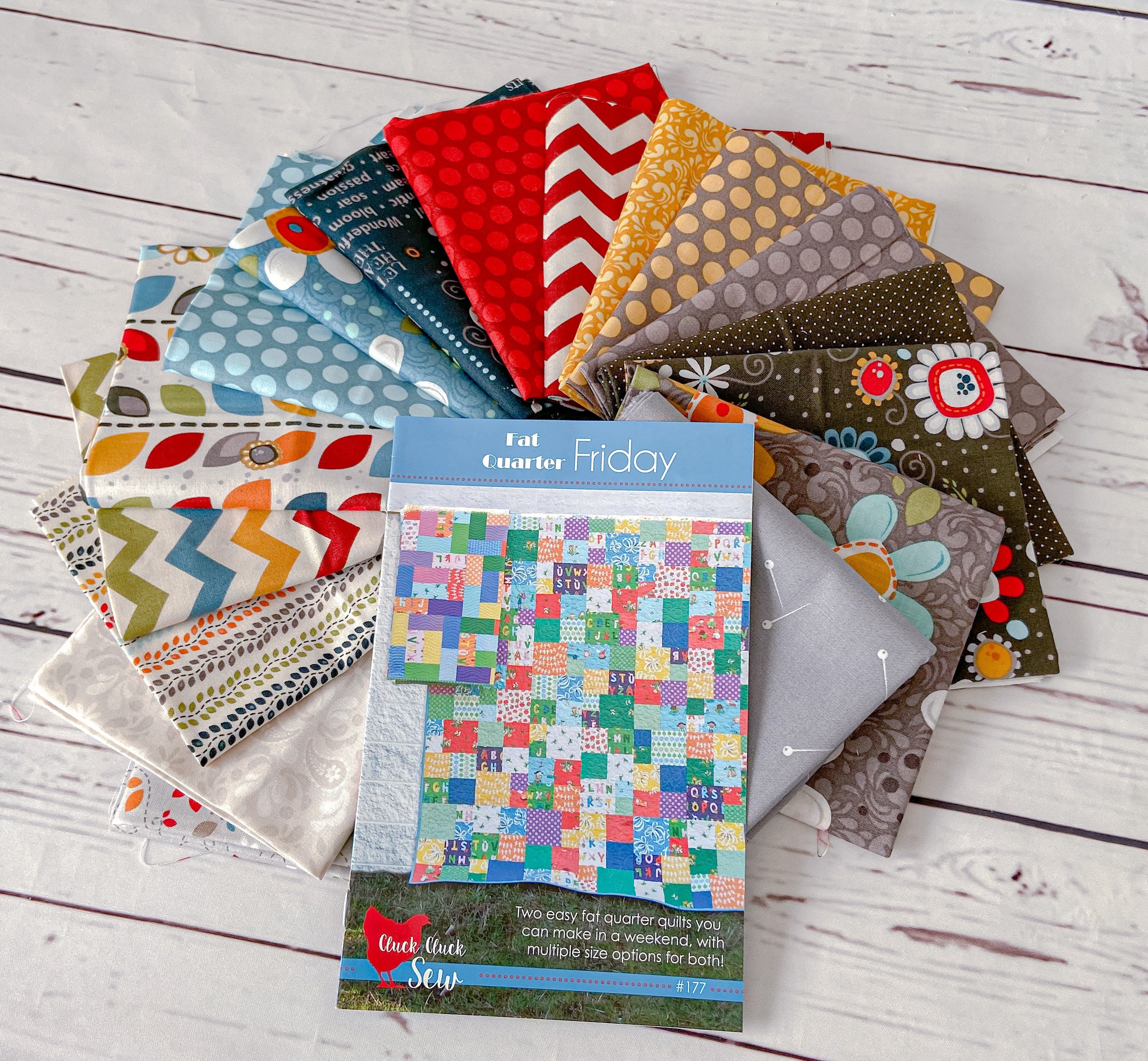 Nested Owl Quilt Kit using Fat Quarter Friday Quilt Pattern by Cluck Cluck Sew