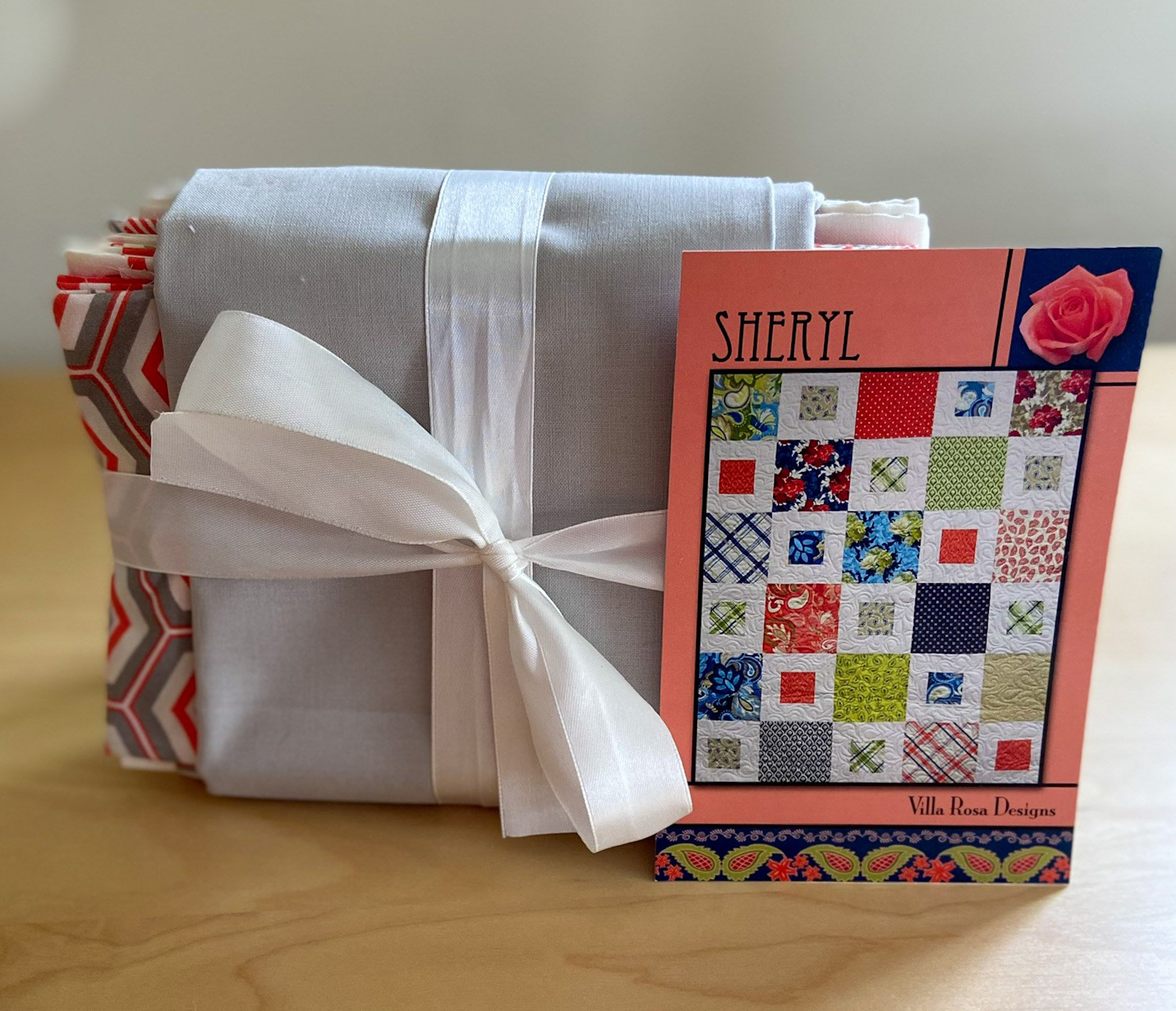 Crib Quilt Kit using Villa Rosa Designs Sheryl Pattern