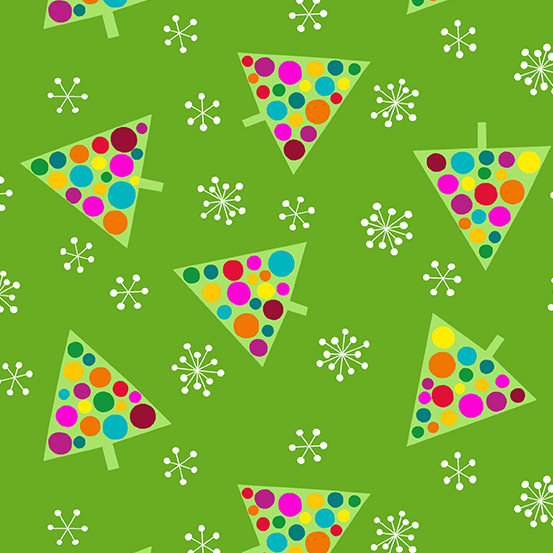Green Trees Very Merry by Kim Schaefer for Andover Fabrics