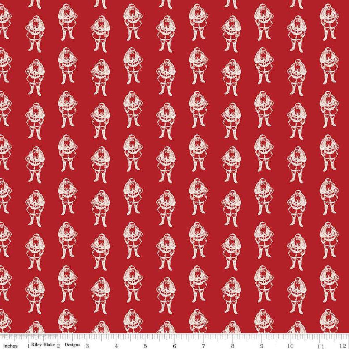 Yuletide Santas Red for Riley Blake