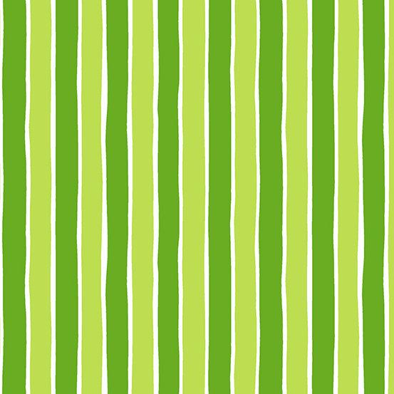 Green Stripes Very Merry by Kim Schaefer for Andover Fabrics