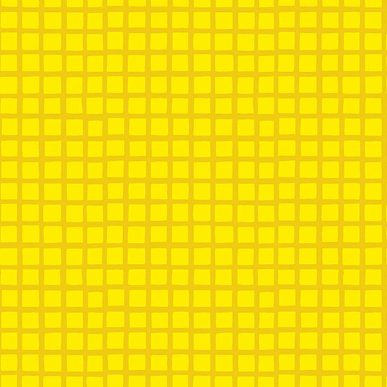 Yellow Squares Very Merry by Kim Schaefer for Andover Fabrics