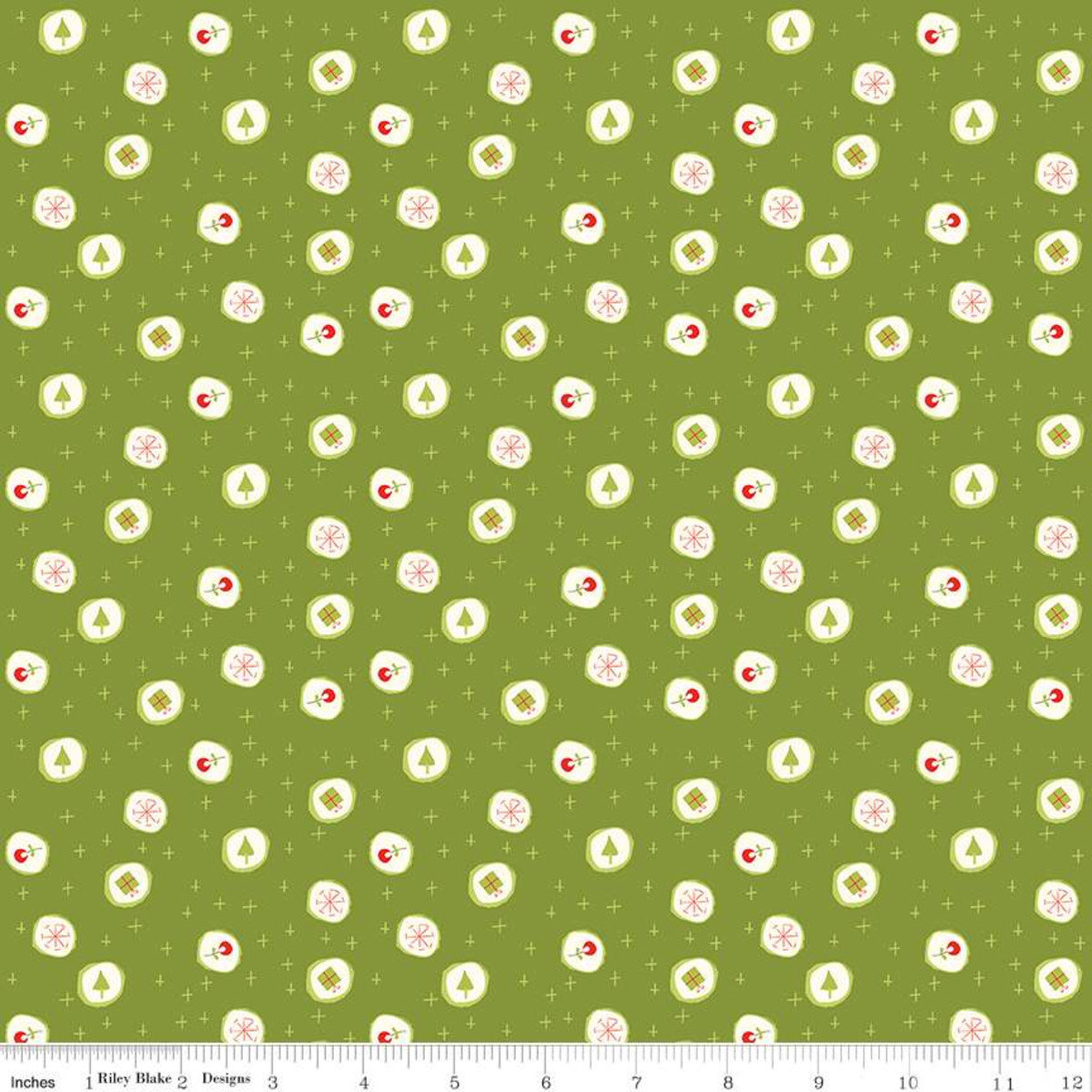 Merry Little Christmas Candy Green by Sandy Gervais for Riley Blake - Fat Quarter