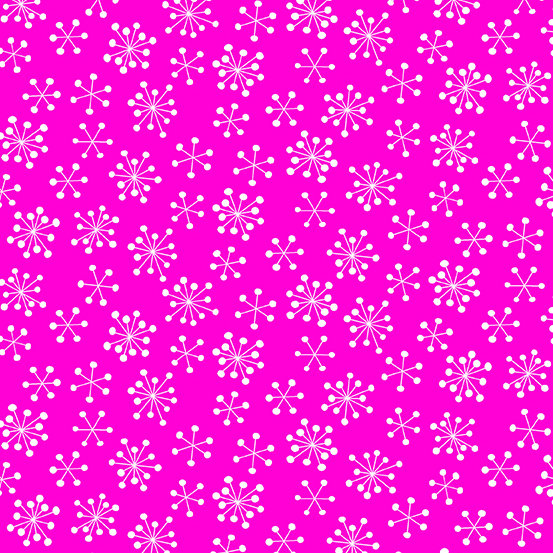 Pink Snowflakes Very Merry by Kim Schaefer for Andover Fabrics - Fat Quarter