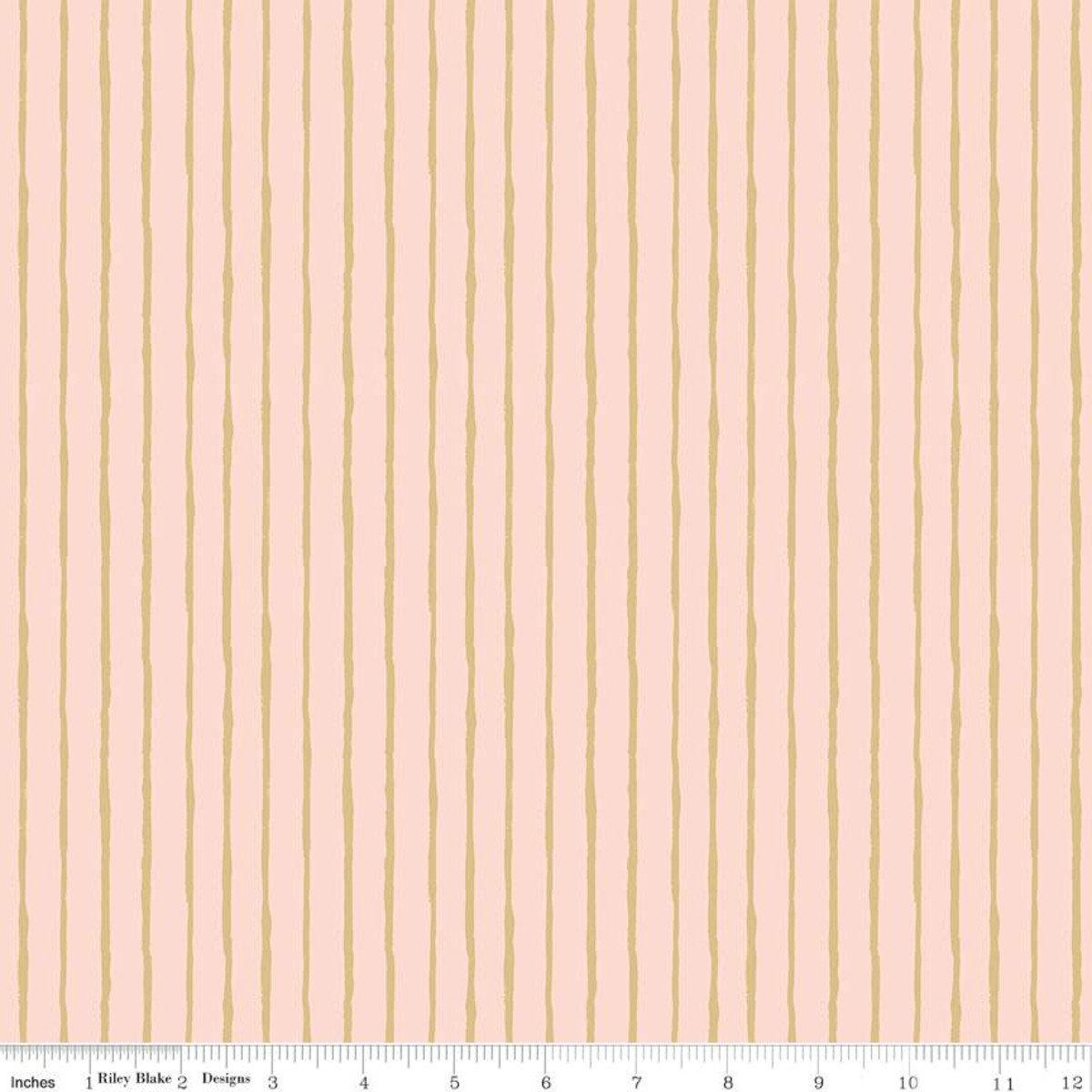 Dream World Stripes Pink Sparkle for Riley Blake - Fat Quarter
