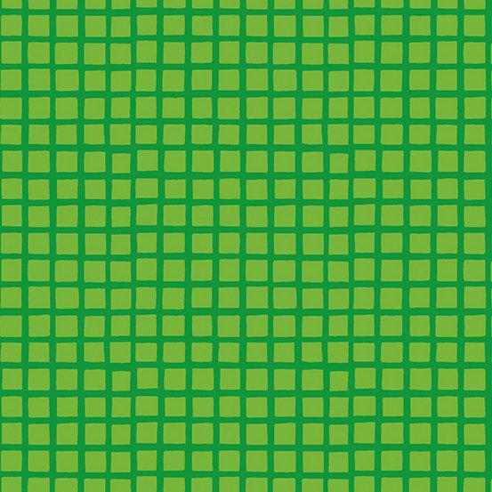 Green Squares Very Merry by Kim Schaefer for Andover Fabrics - Fat Quarter