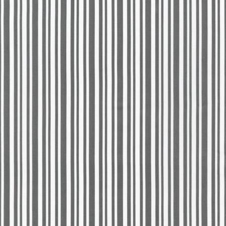 Yuletide Bells Grey and White Stripe by Darlene Zimmerman - Fat Quarter