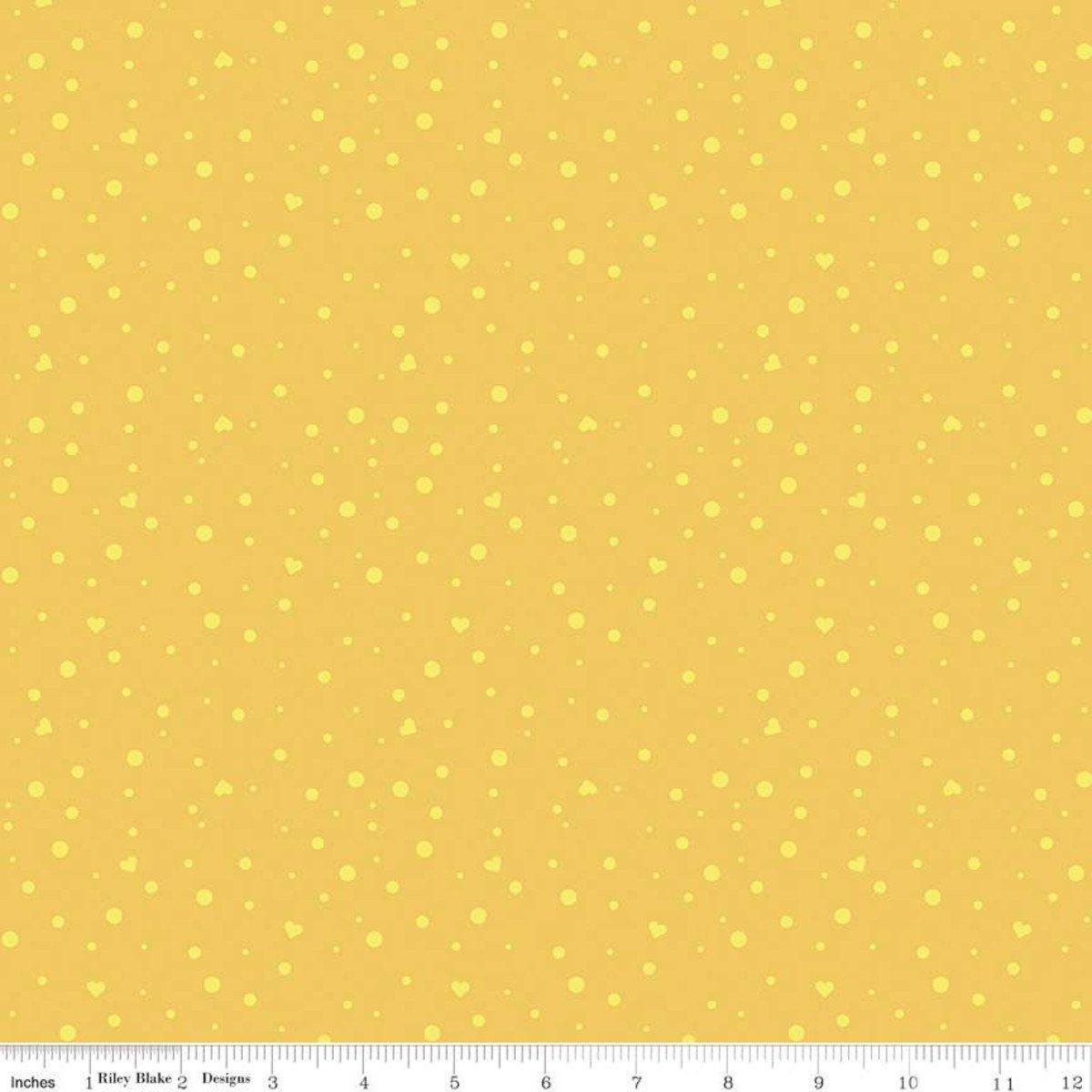 Dream Scatter Love Yellow- Fat Quarter