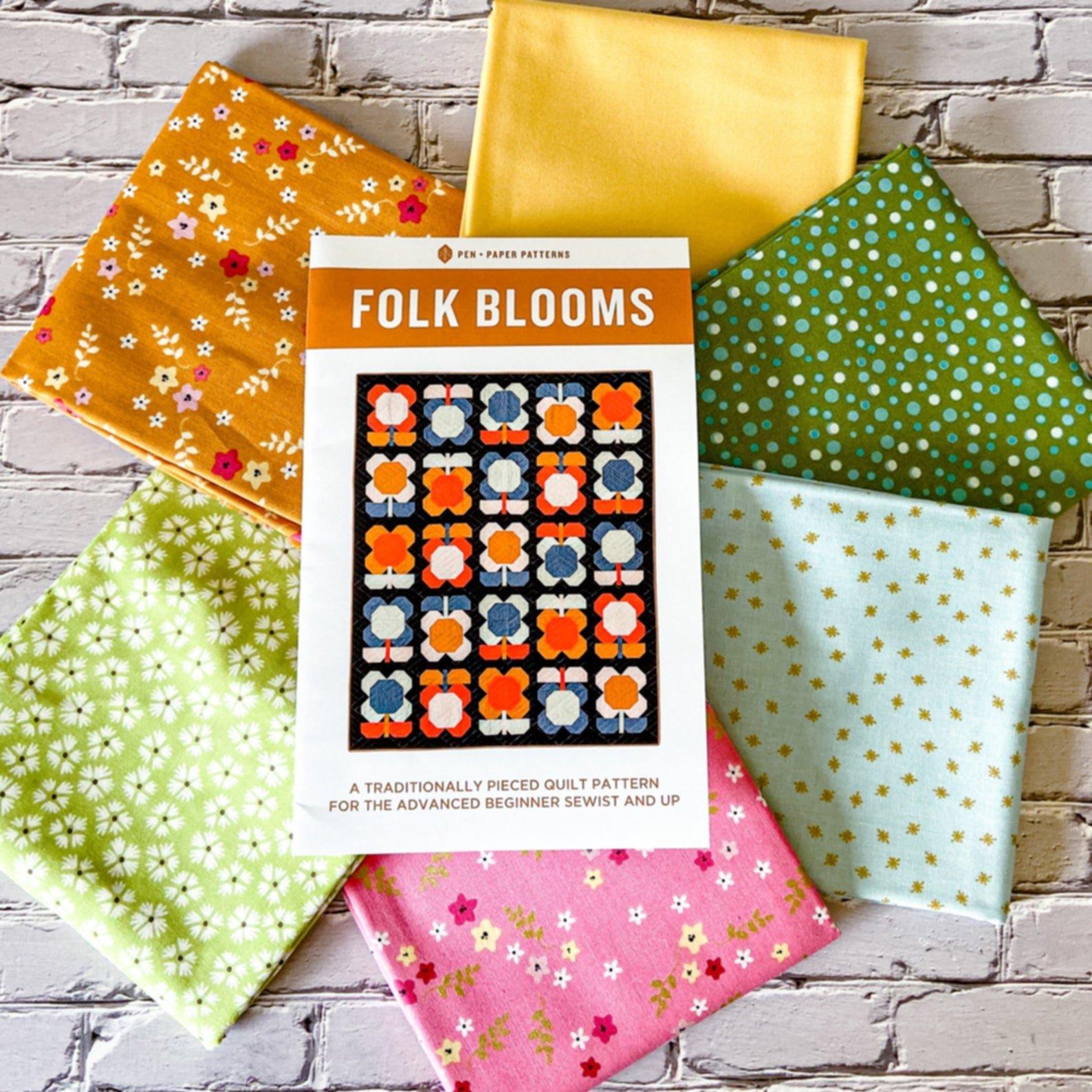 Folk Blooms Quilt Kit- Floral Option