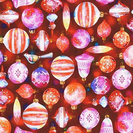Glow Ornaments Cranberry for Robert Kaufman