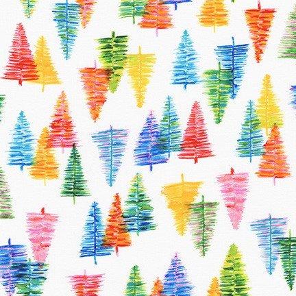 Glow Scribble Pines Rainbow for Robert Kaufman
