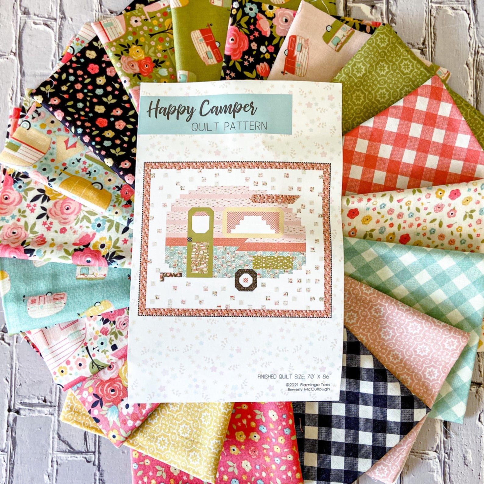 Happy Camper Quilt Kit featuring Joy in the Journey
