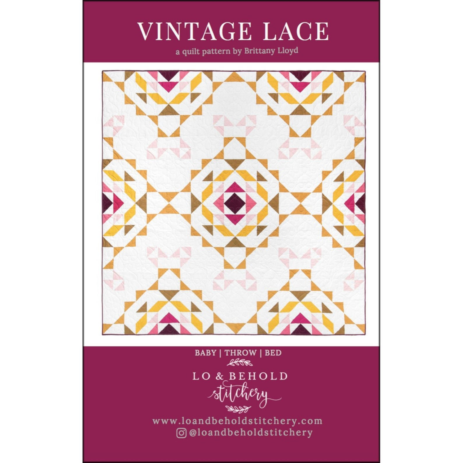 Vintage Lace Quilt Pattern by Lo & Behold Stitchery