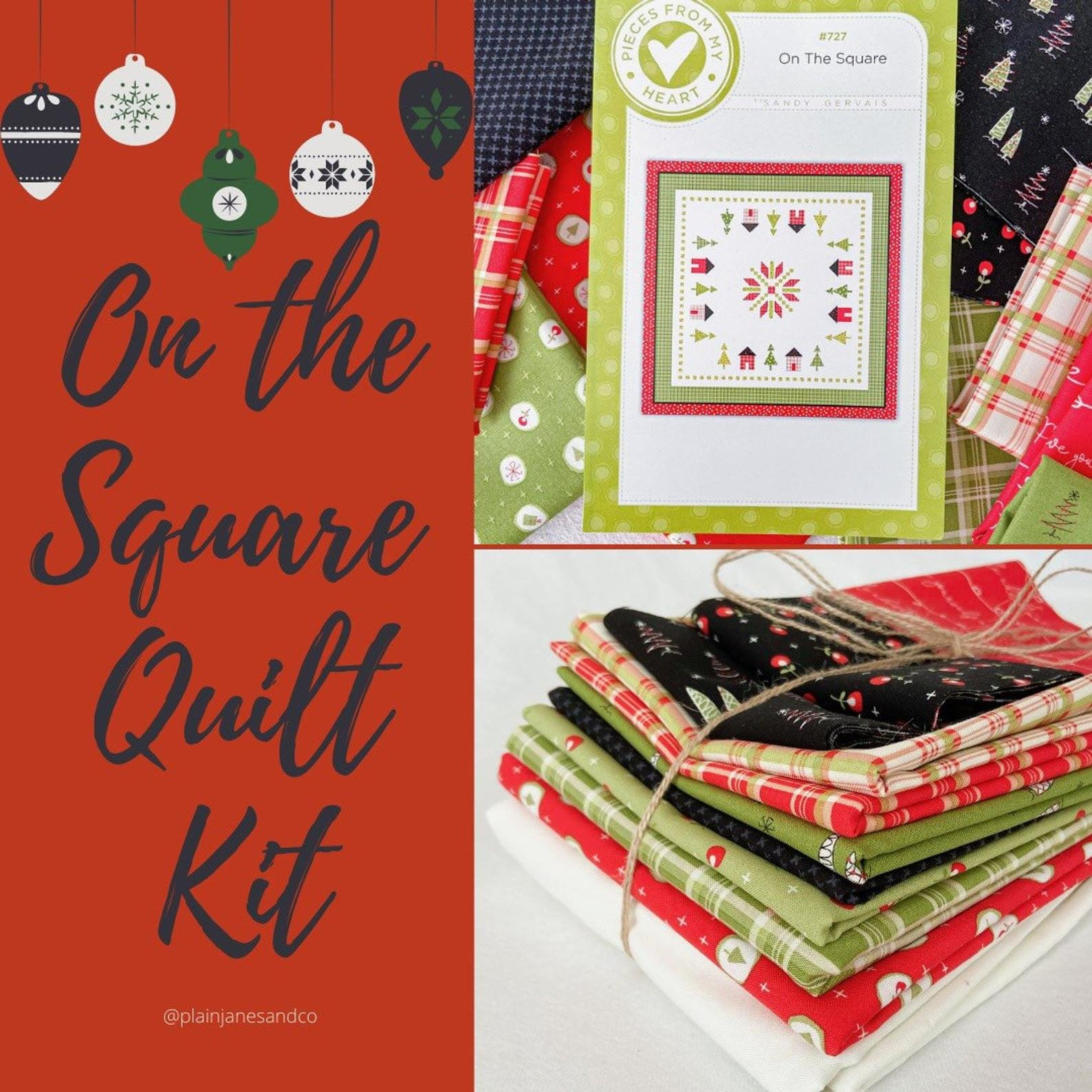 On the Square Quilt Kit by Sandy Gervais
