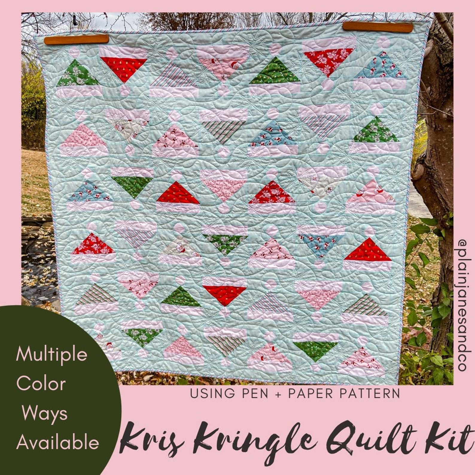 Kris Kringle Quilt Kit for Pen + Paper Patterns