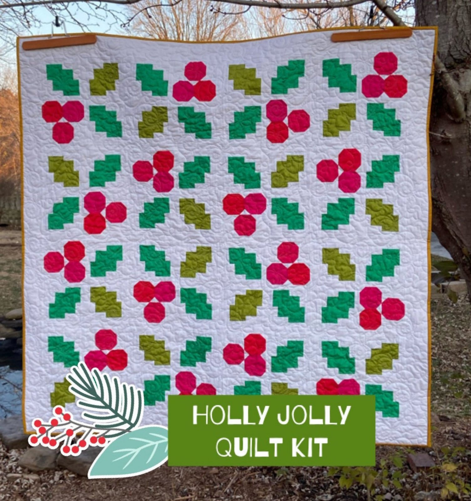 The Holly Jolly Quilt Kit using Pen + Paper Pattern