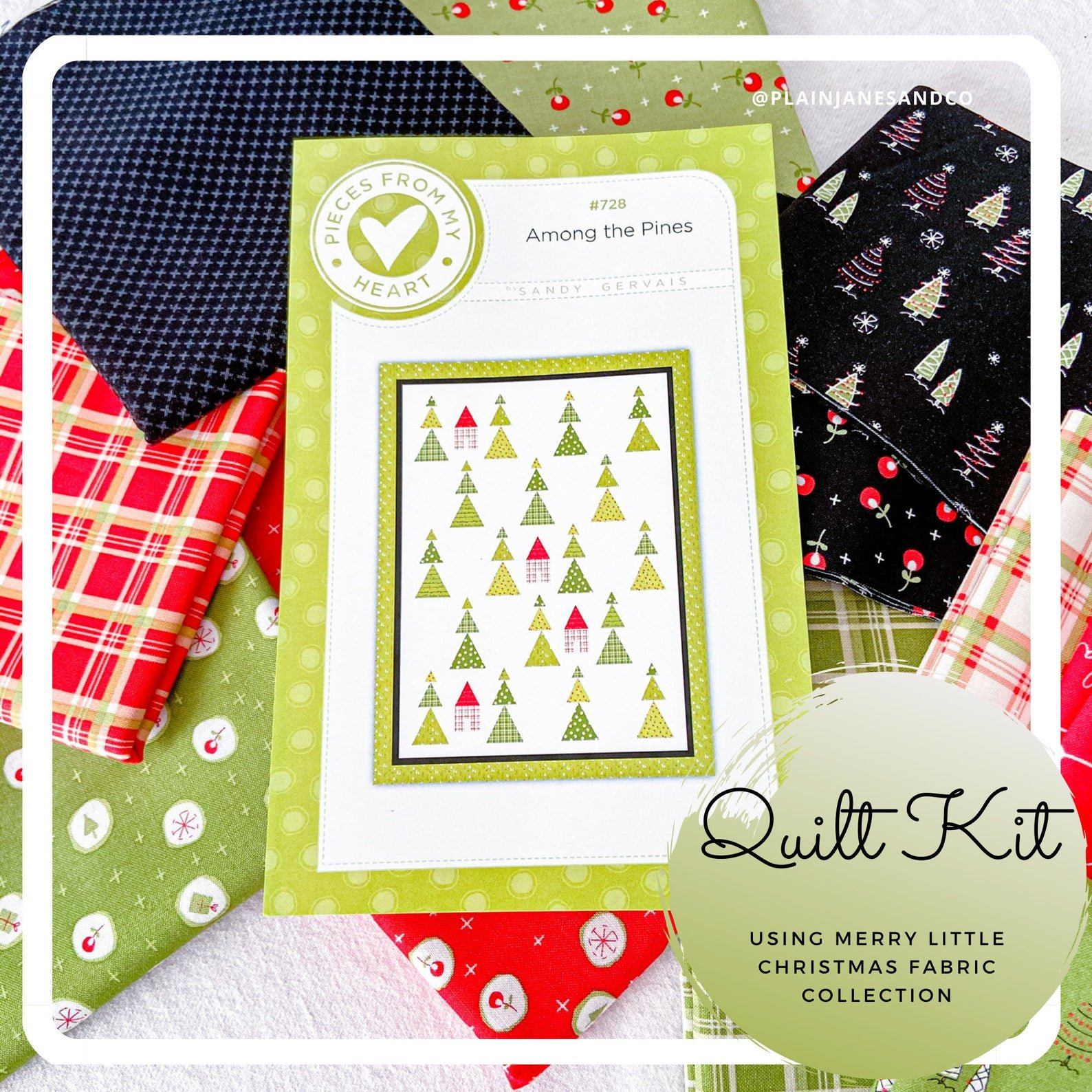 Among the Pines Quilt Kit by Sandy Gervais