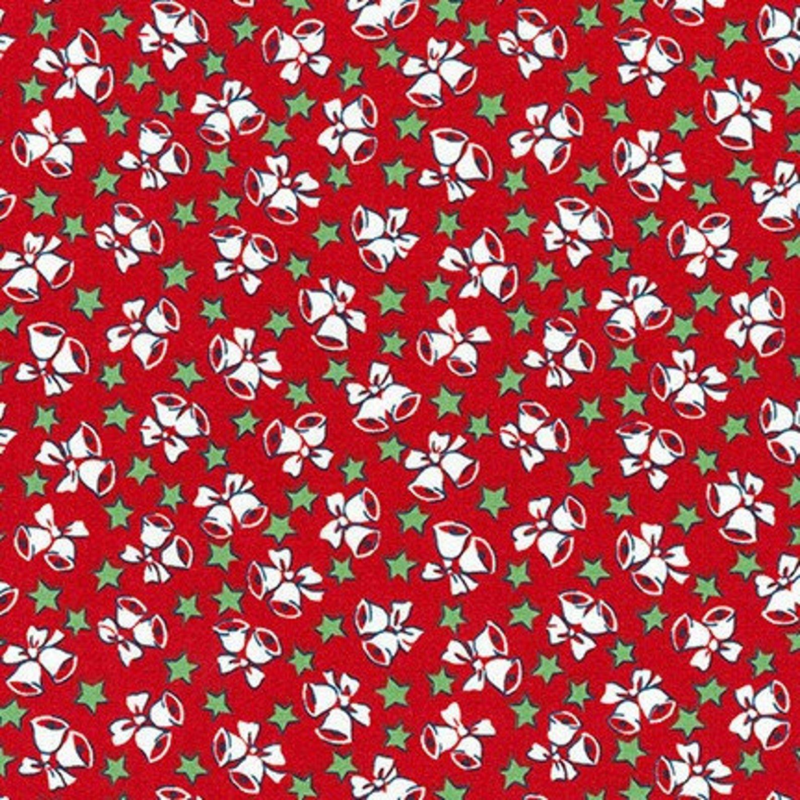 Yuletide Bells Holiday Red by Darlene Zimmerman - Fat Quarter