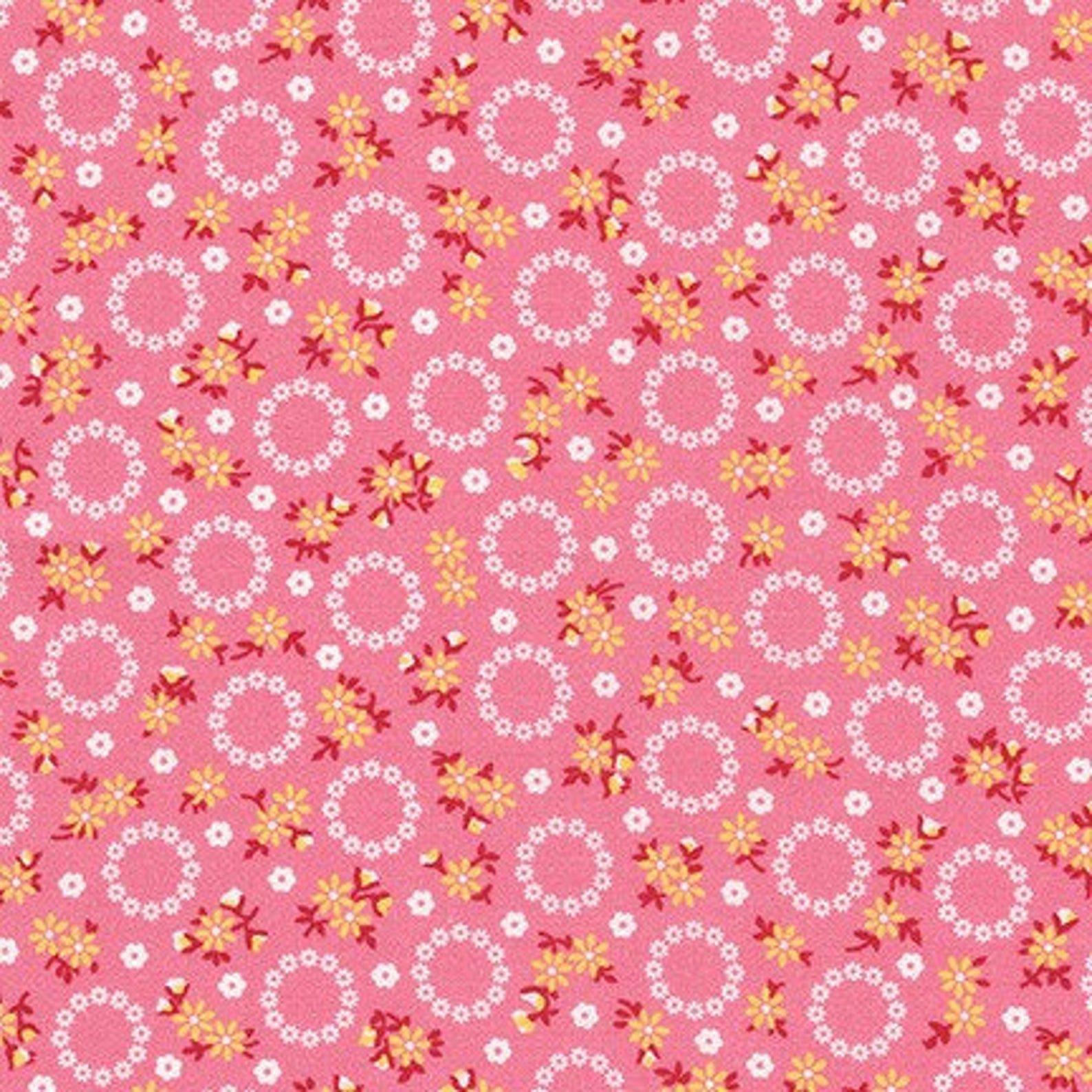Darlene's Favorites Pink Blossoms for Robert Kaufman - Fat Quarter