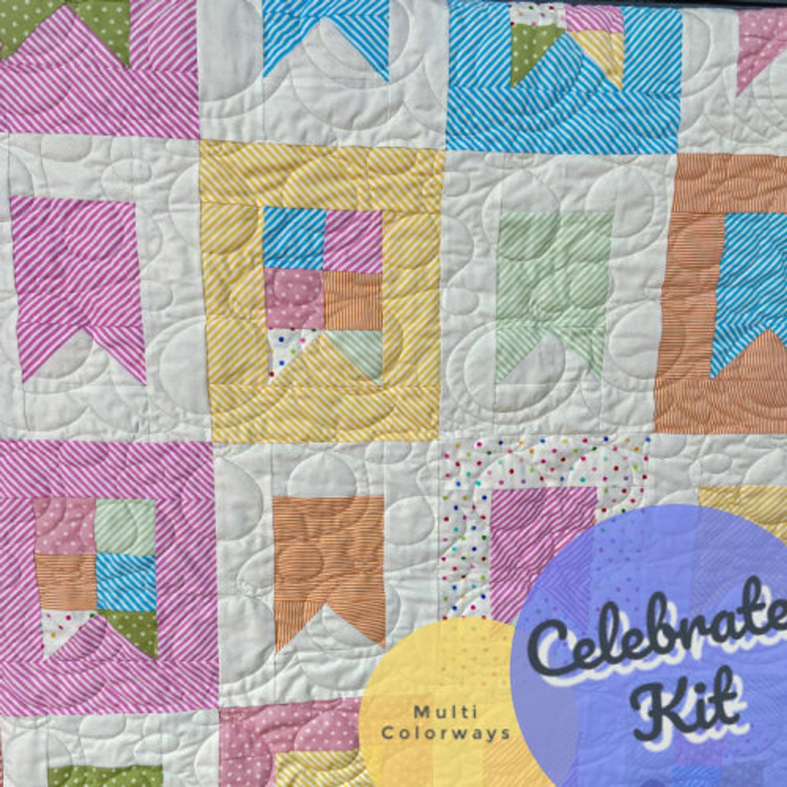 Celebrate Quilt Kit using Cluck Cluck Sew Pattern