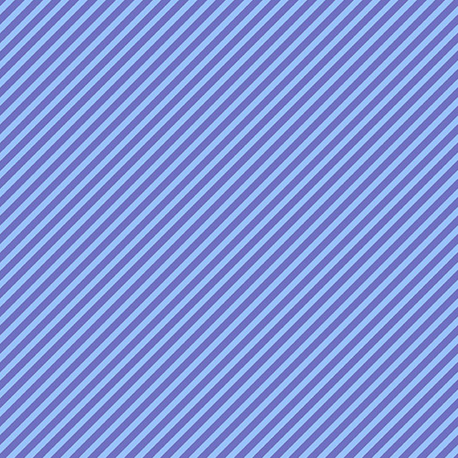 Boysonberry Candy Stripe by Andover Fabrics - Fat Quarter