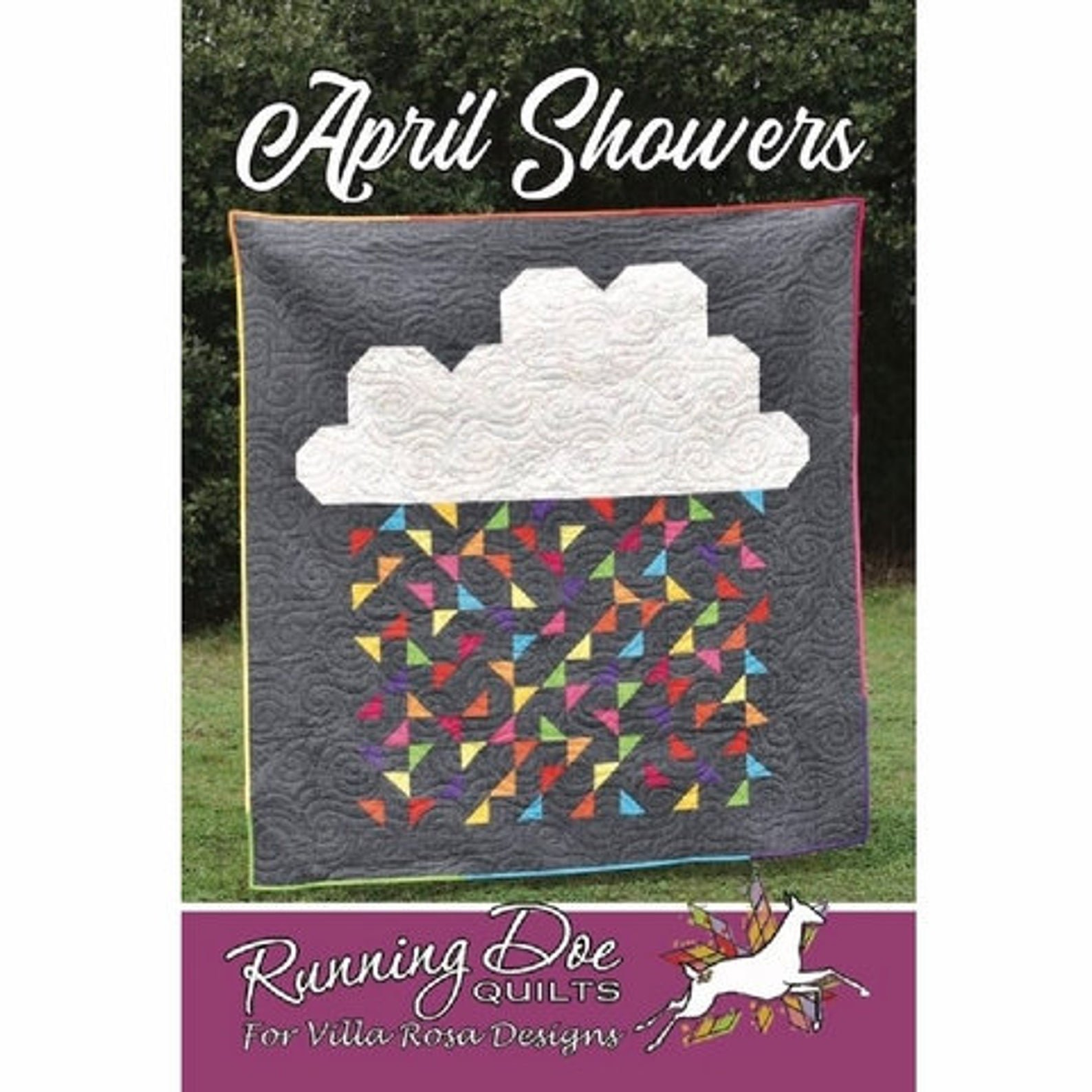 April Showers Quilt Pattern by Running Doe Quilts
