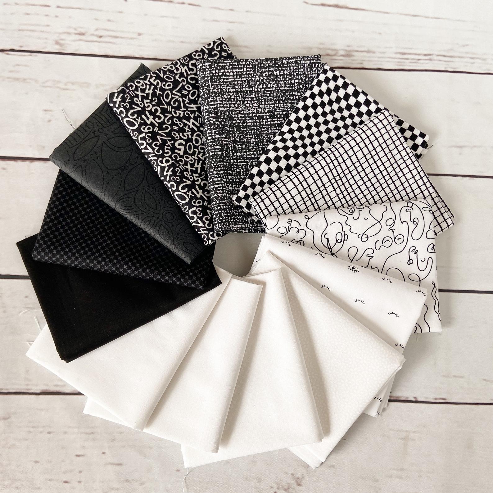 Black and White Fat Quarter Bundle