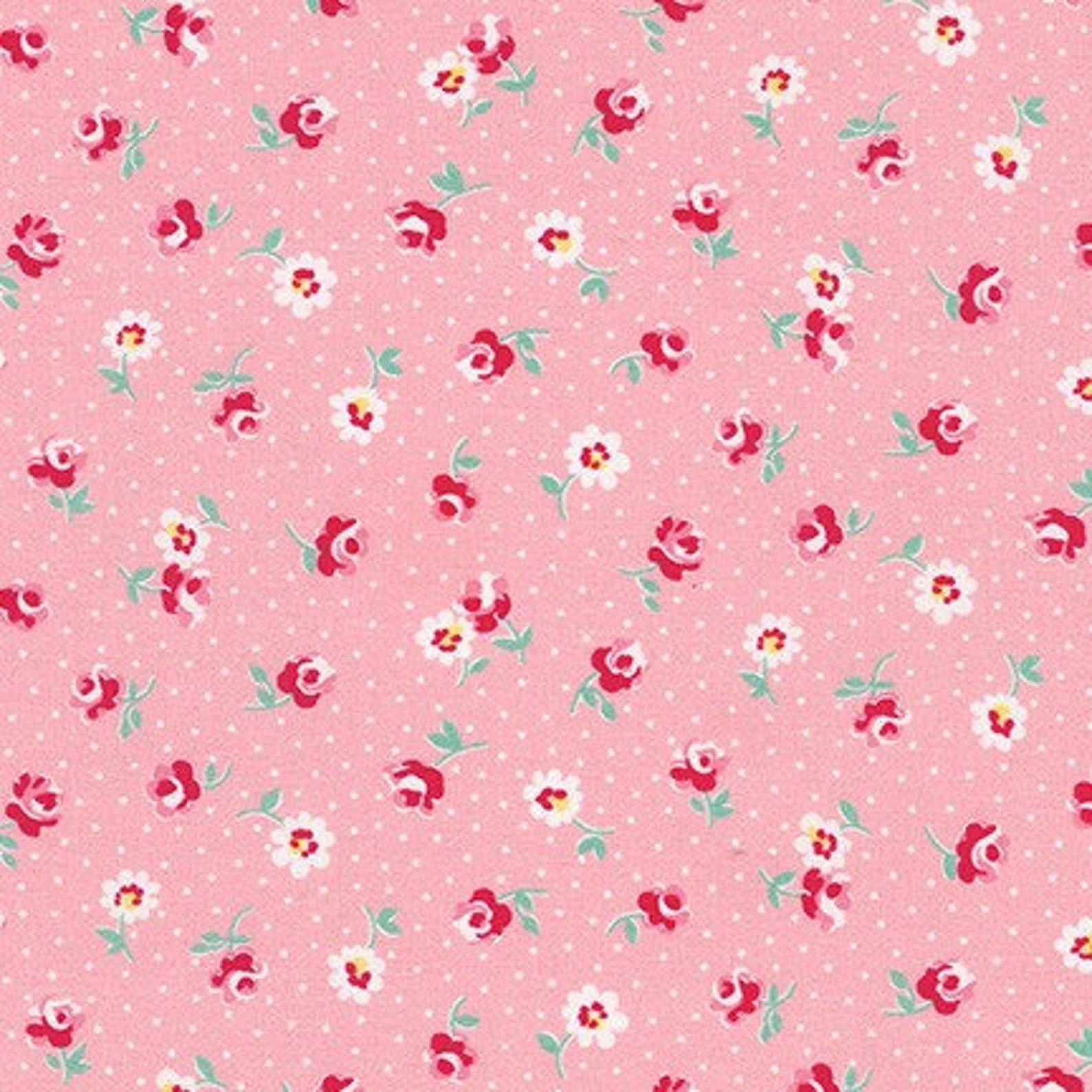 Darlene's Favorites Camellia Flowers for Robert Kaufman -Fat Quarte