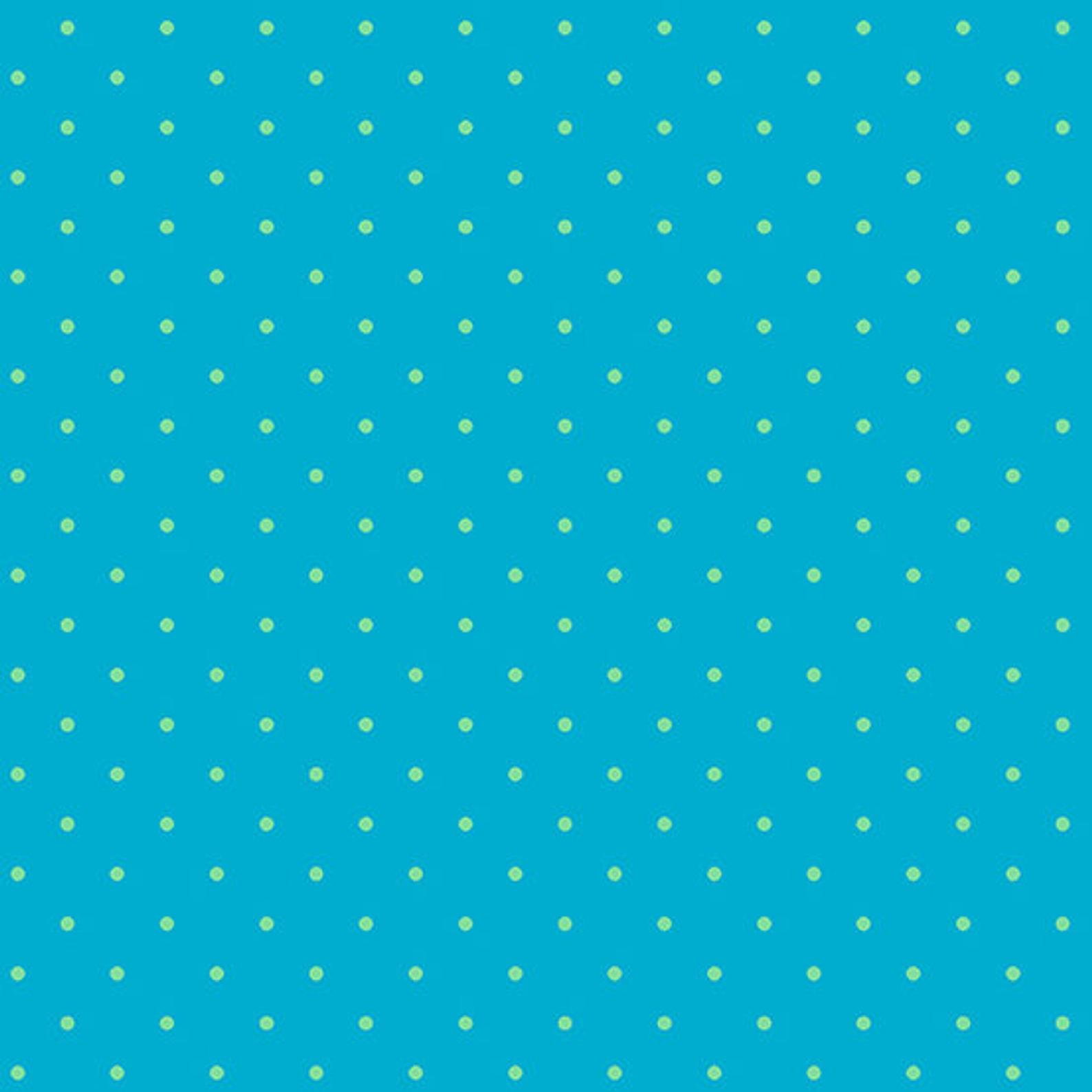 Teal Candy Dot by Andover Fabrics - Fat Quarter