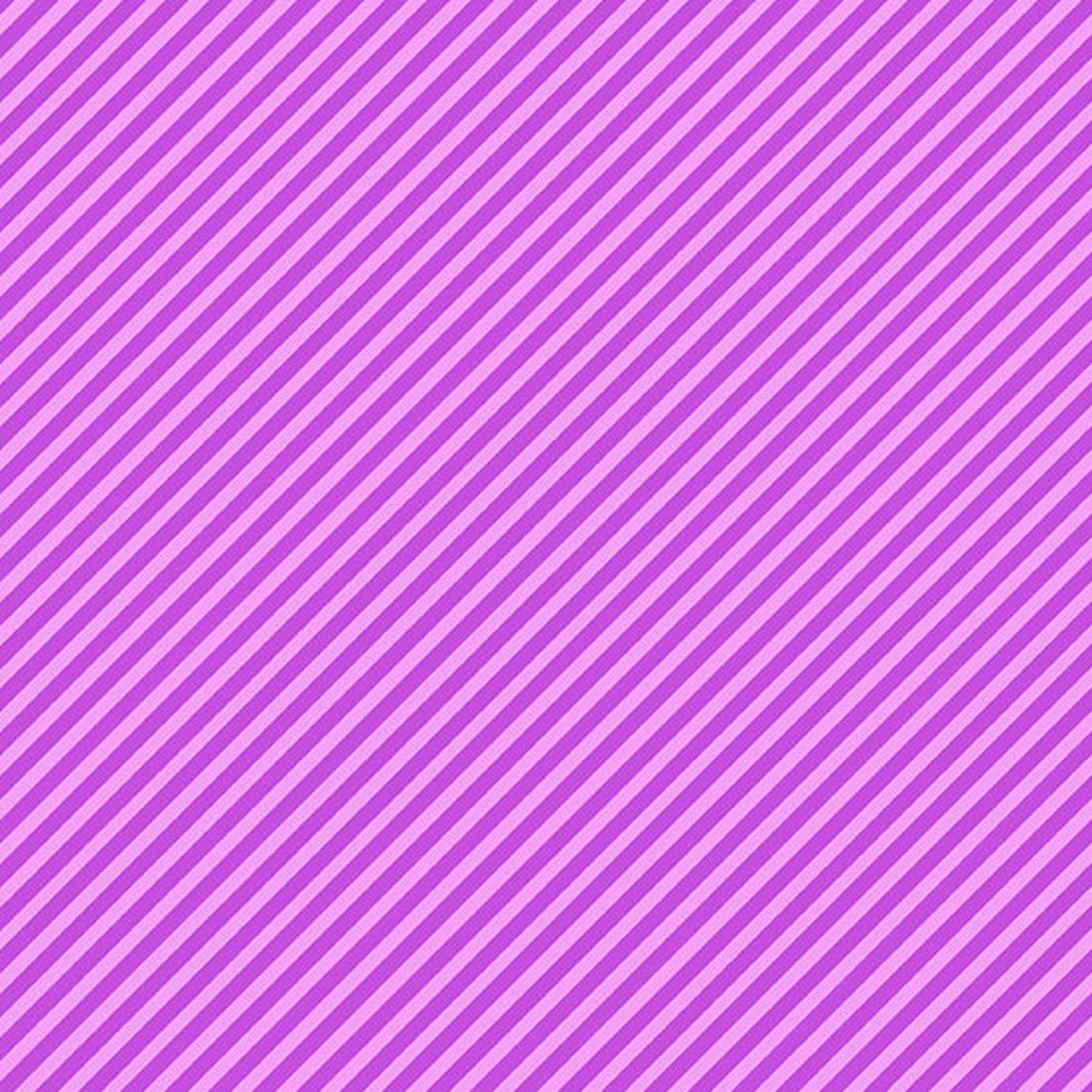 Grape Candy Stripe by Andover Fabrics -Fat Quarter