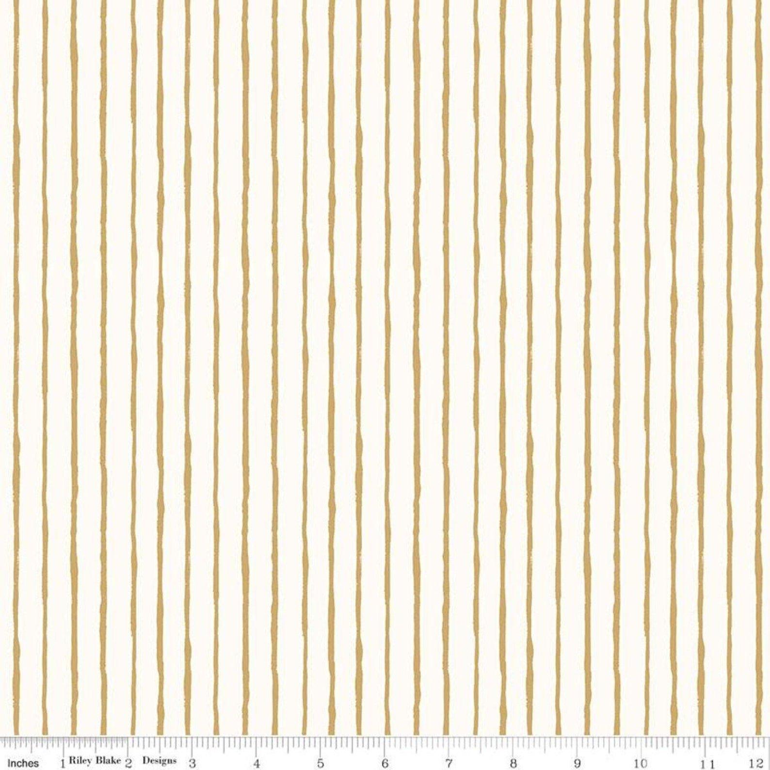Dream World Stripes Cream Sparkle for Riley Blake