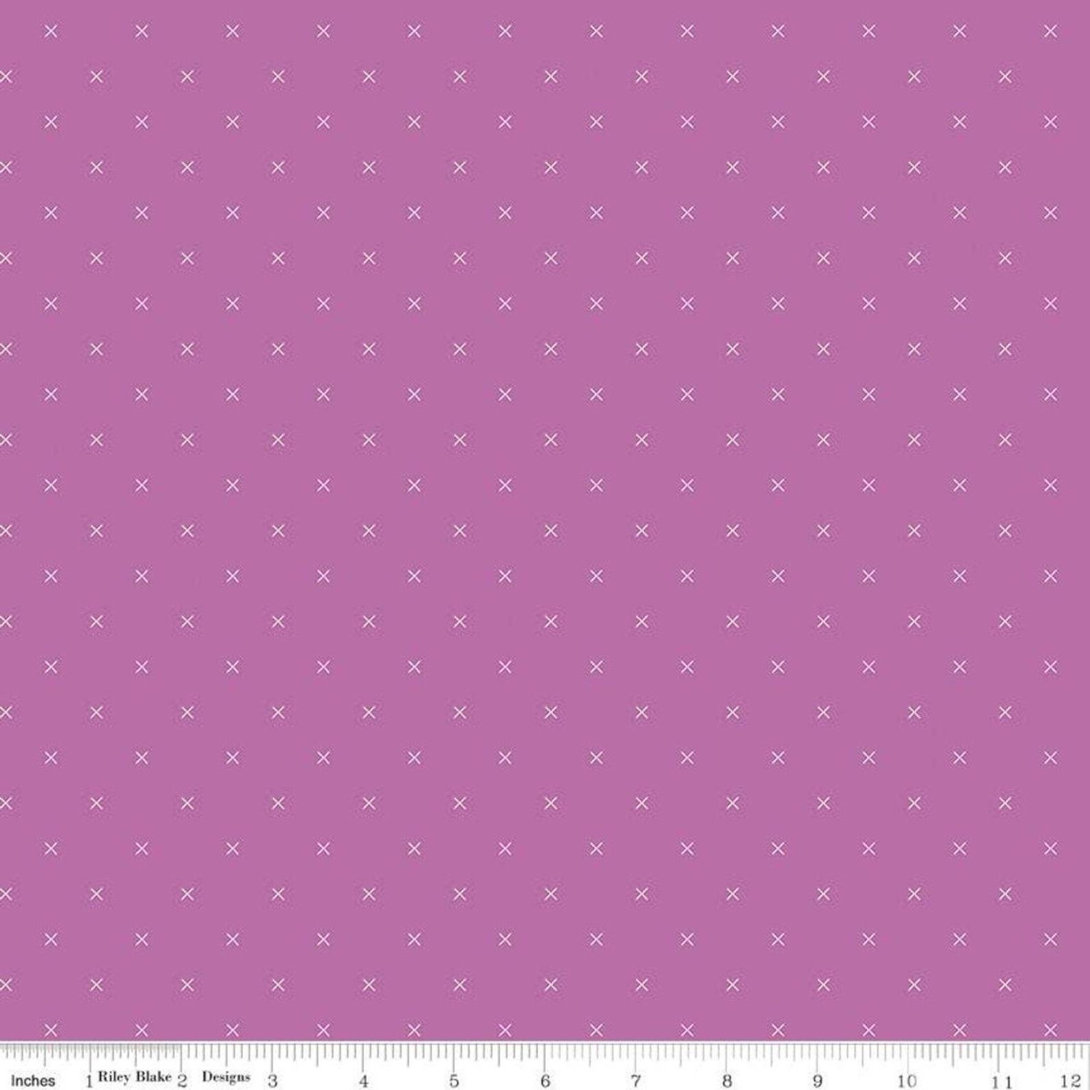Bee Cross Stitch Plum by Lori Holt for Riley Blake Designs